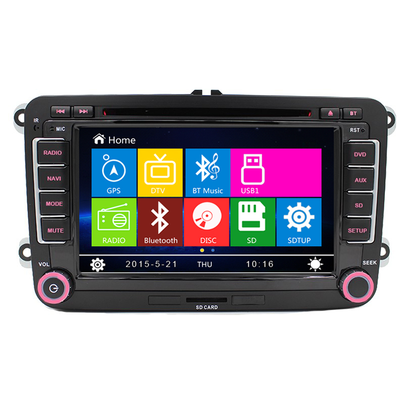 """2 Din Auto 7""""screen Built-in canbus Car DVD with GPS Navigation for VW JETTA PASSAT B6 CC GOLF 5 6 POLO Touran Tiguan Caddy SEAT(China (Mainland))"""