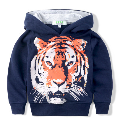 2015 Brand Baby Boy Girl Spring Autumn Hoodies and Sweatshirt Kids Tiger Hoody Child Clothes Jacket 2-10 Years(China (Mainland))