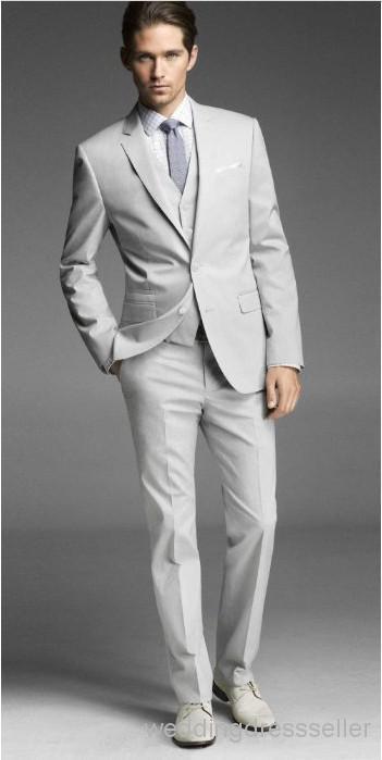 Slim fitting wedding suit mohair silver grey | Groomsmen