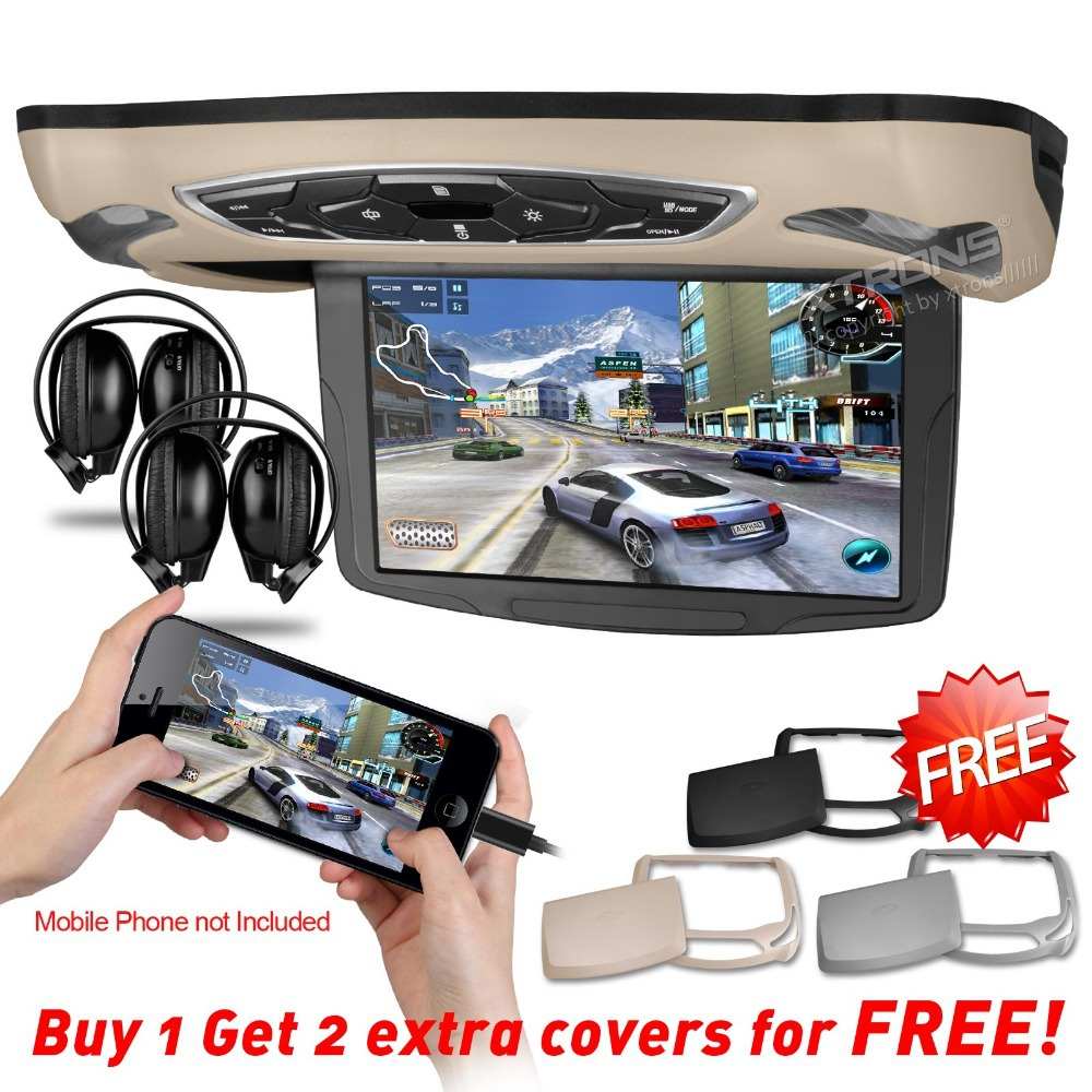"""10.1"""" Car Roof Mounted DVD Monitor HDMI 1024*600 Touch Button IR headphones Flip Down Monitor Overhead Ceiling DVD(China (Mainland))"""