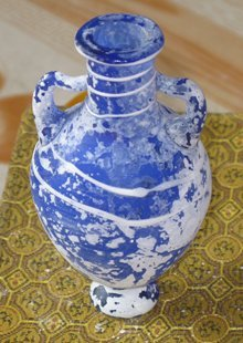 1 pc Antique Chinese Glass Vase from Song Dynasty for collection No.24