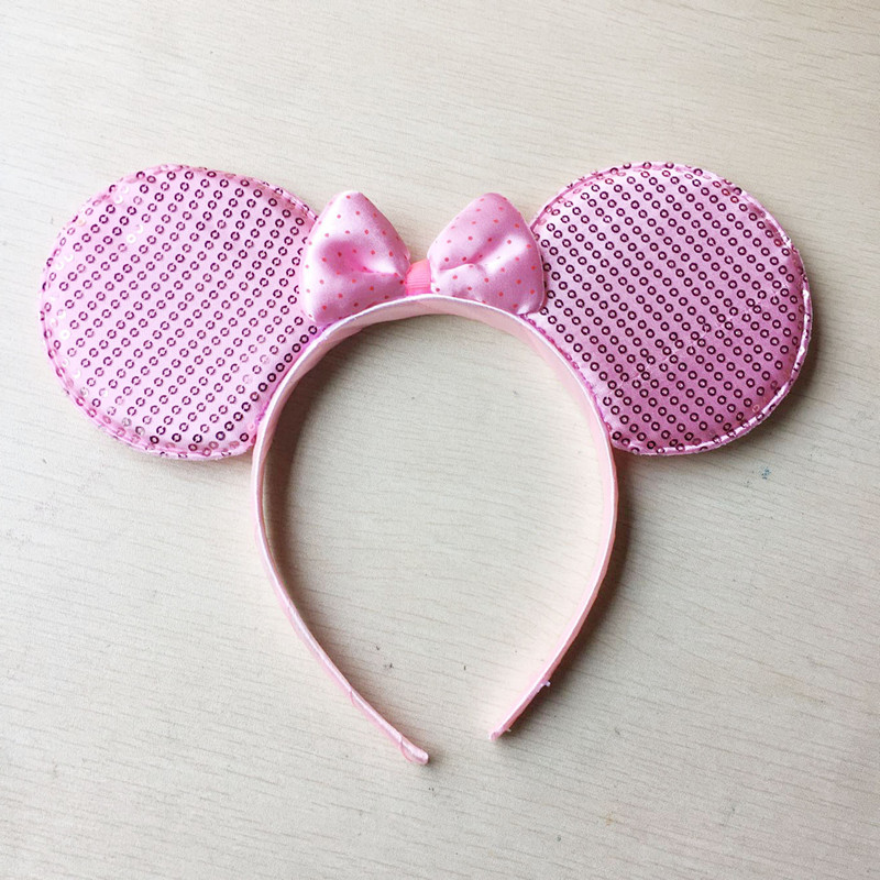 Pink Minnie Ear Hair Accessories Girls Headband Birthday Party Decorations Kids Hairwear 1pcs(China (Mainland))