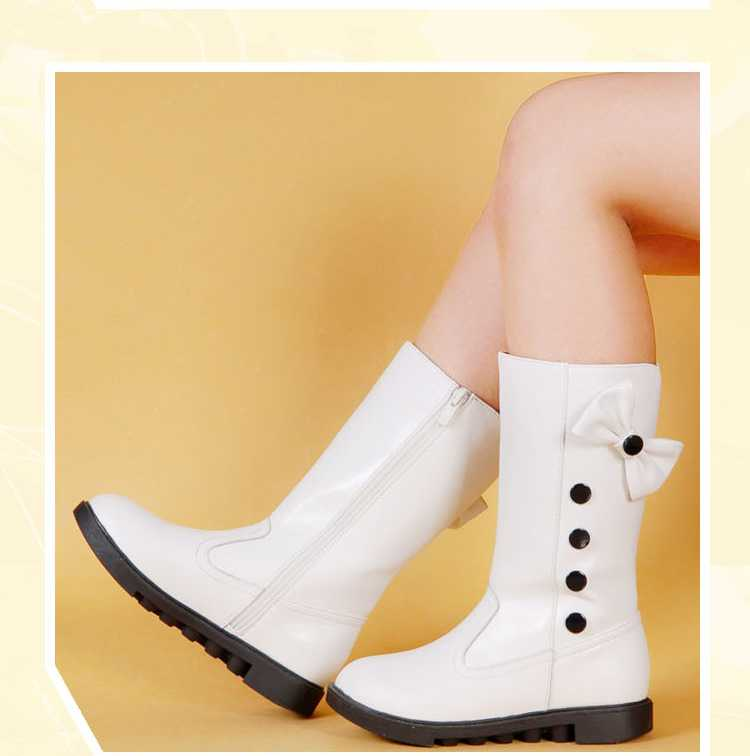 Autumn Winter Childrens PU Leather Bow Fashion Boots Girls Princess Shoes Snow Boots Sapatos H5397<br><br>Aliexpress