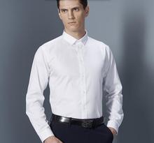 The latest design men shirt custom made comfortable groom shirt white good quality men formal shirt business shirt long sleeve(China (Mainland))