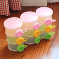 1 pc 4 layer New Portable baby Food Storage Baby Infant Feeding Milk Powder Food Bottle