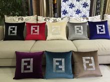 Европейской роскоши мода марка горный хрусталь кристалл алмаза дизайн подушка диван домашнего мягкие подушки