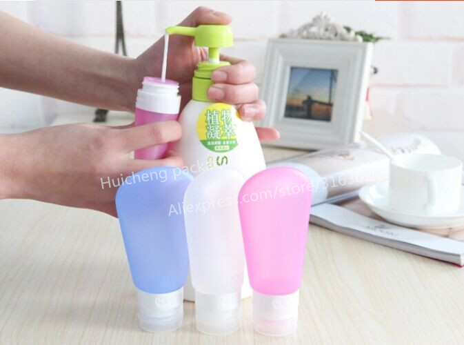 60ML Refillable Empty Silicone Squeeze Travel Gym Toiletries Container Tube Bottles Sub-bottle,Shampoo, Shower Gel Lotion(China (Mainland))