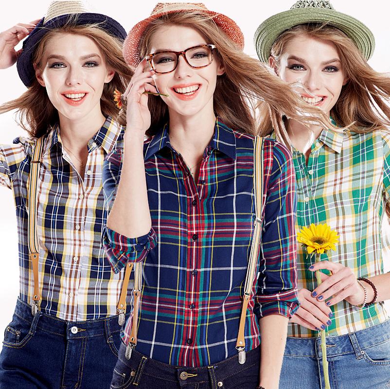 Женские блузки и Рубашки Brand new 2015 100% Blusas Roupas женские толстовки и кофты new brand 2015 ballinciaga 2 piece 8718