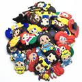 Wholesale 50pcs Random Mixed Princess Shoe Decoration Shoe Charms fit Children Croc shoes Accessories Birthday Party