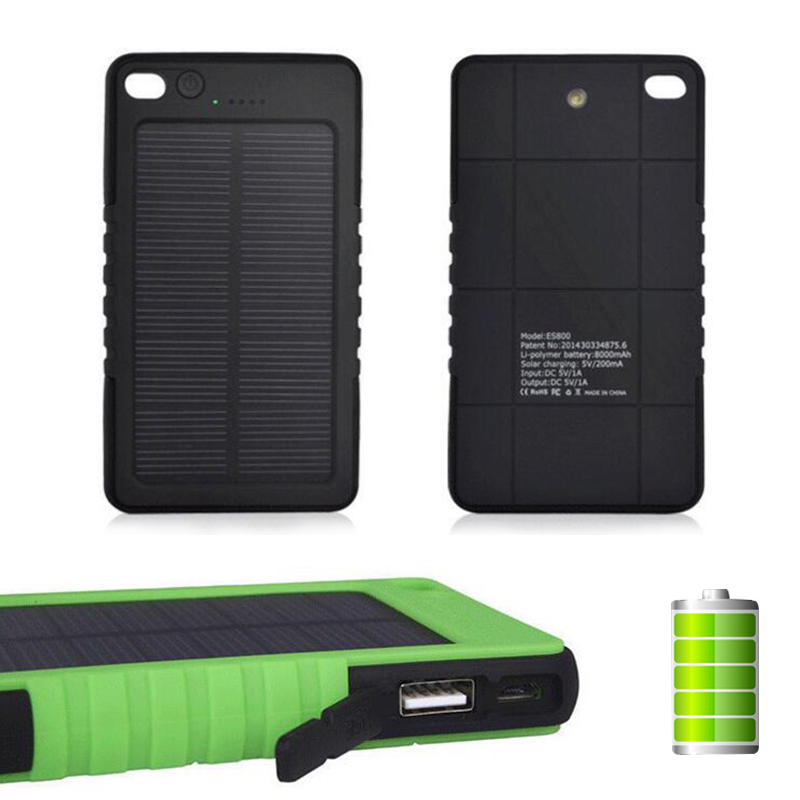 1 piece Solar Charger Mobile Waterproof Solar Power Bank Backup Portable Charger Power bank(China (Mainland))