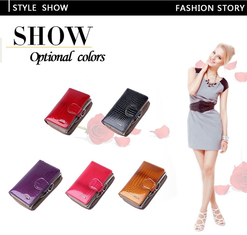 HTB1 LDtQFXXXXXEXVXXq6xXFXXXV - Fashion Real Patent Leather Women Short Wallets Small Wallet Coin Pocket Credit Card Wallet Female Purses Money Clip Gold color