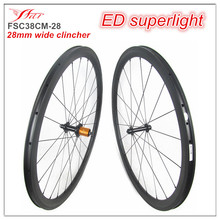 NEW wider clincher road wheelsets 28mm wide 38mm deep full carbon fiber bicycle wheelsets with ED hub ceramid bearings 20H/24H(China (Mainland))