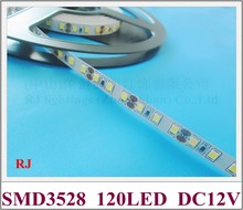 non-waterproof IP20 SMD 3528 LED strip light flexible strip soft strip DC12V SMD3528 120 led 9.6W 10M/roll CE free shipping(China (Mainland))