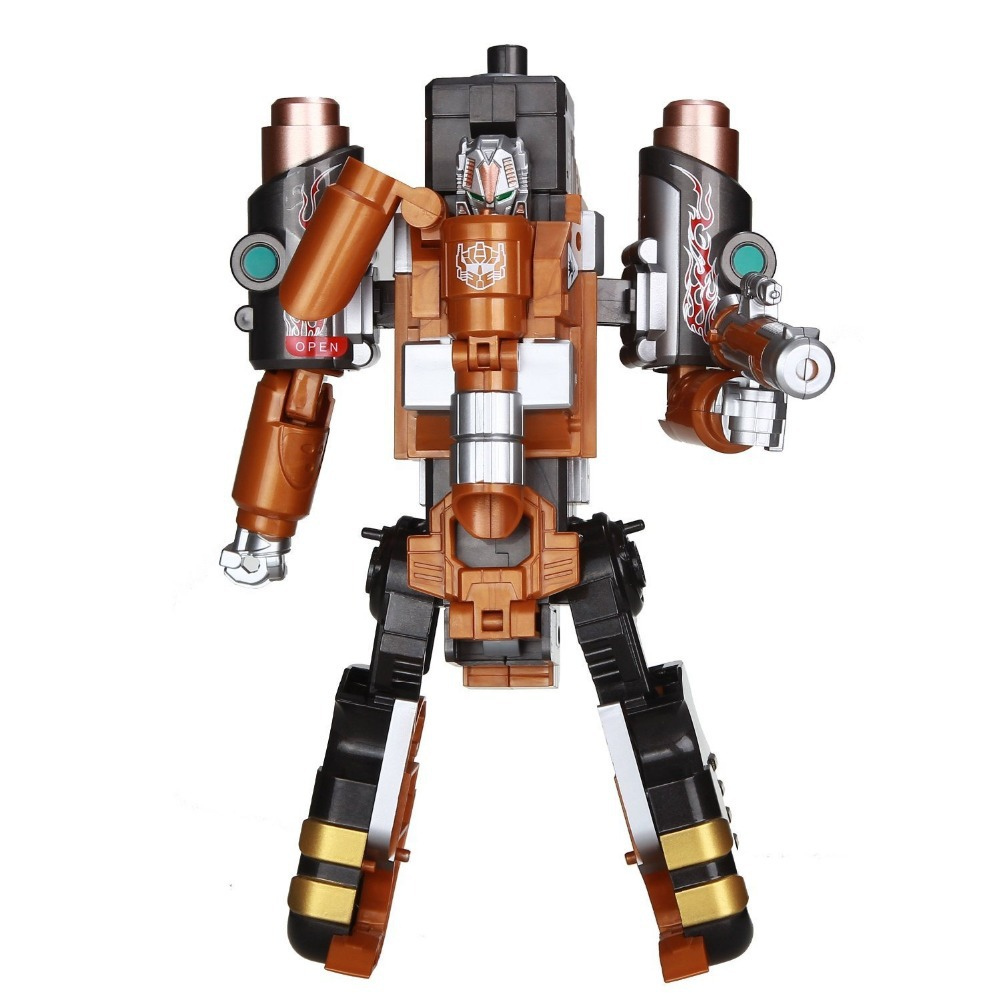 Genuine alloy deformation soft elastic toy gun can fire bullets boy pistol Transforme robot