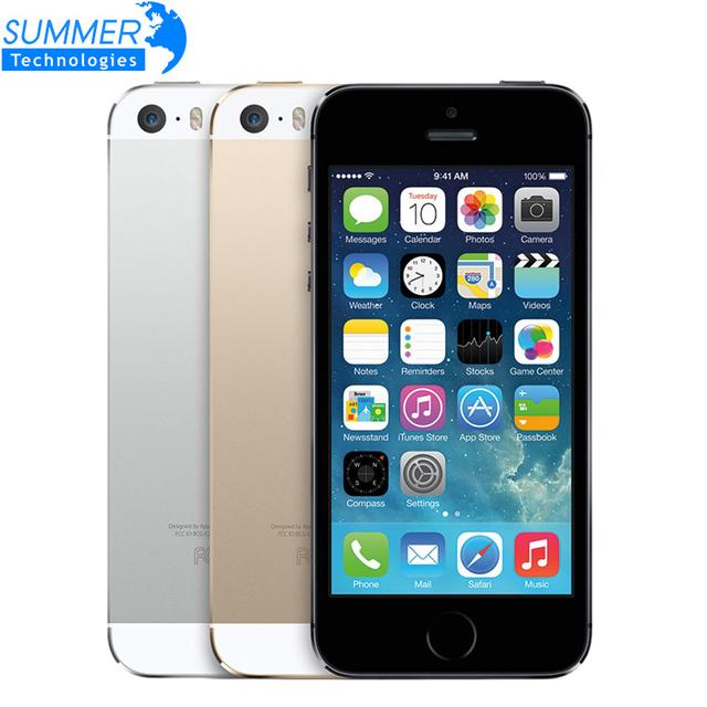 """Apple , iPhone 5S первоначально открынный iPhone5S сотовых телефонов iOS 8 4.0 """" IPS HD двухъядерный A7 GPS 8MP 16 ГБ / 32 ГБ используется мобильный телефон"""
