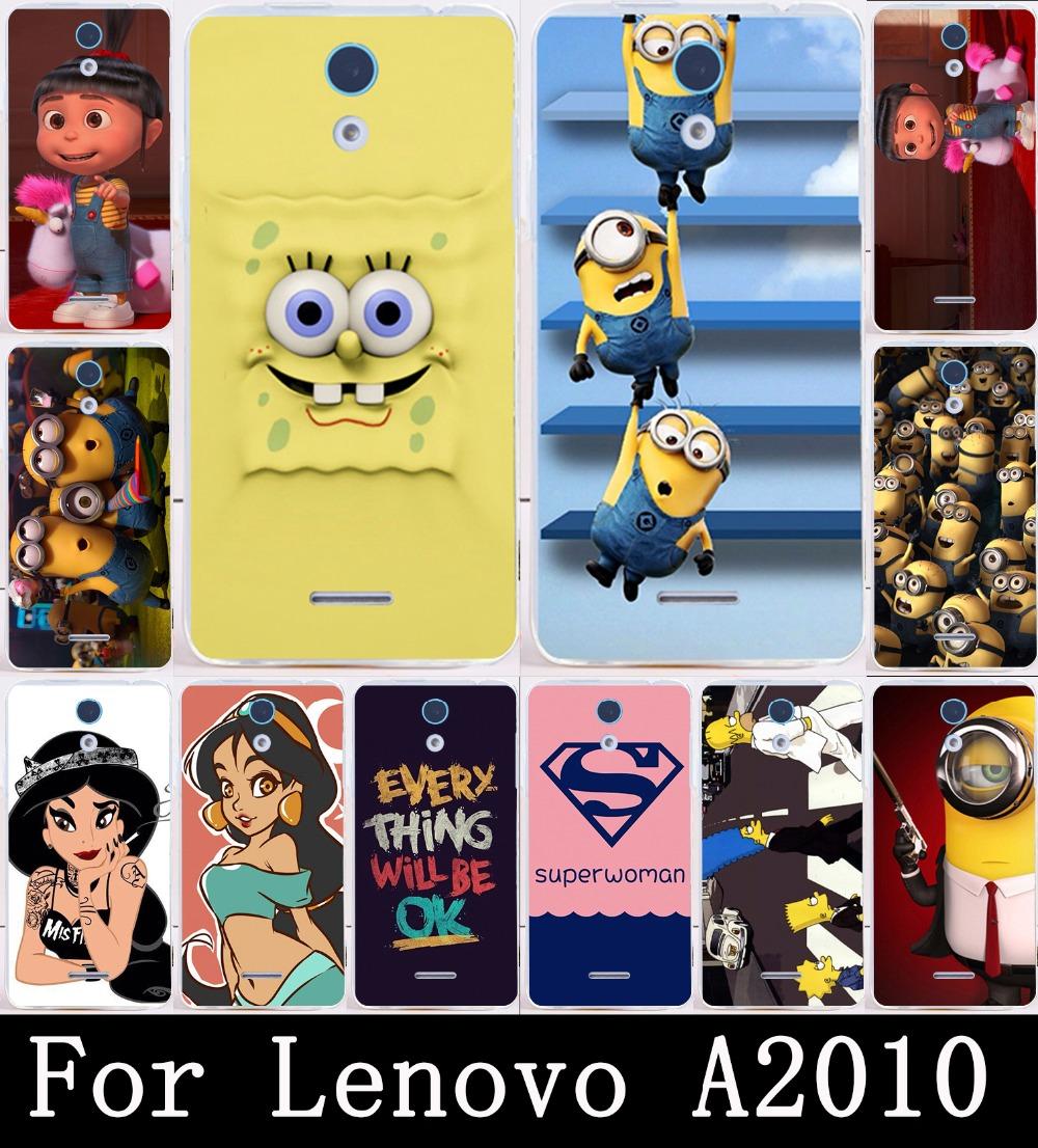 Гаджет  Cartoon TV Despicable Me Yellow Minions Lenovo A2010 Case Cover Colored Painted Hard PC Shell Skin For Lenovo A2010 Phone Cases None Телефоны и Телекоммуникации
