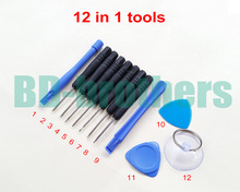 Buy 12 1 Opening Tools Kit Screwdriver Repair Tool T3 T4 T5 T6 iPhone Samsung MOTO Nokia SIEMENS Phone 500sets / lot for $260.64 in AliExpress store