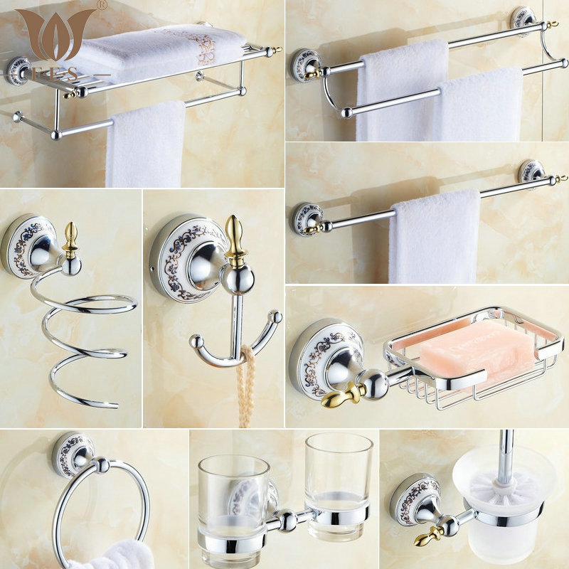 Online get cheap towel bar set alibaba group for Cheap bathroom accessories set