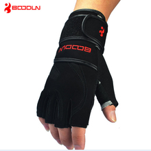 2016 hot sale Weight Lifting Gym Glove Training Fitness Gloves bodybuilding Workout Wrist Wrap Exercise Gloves brand boodun(China (Mainland))