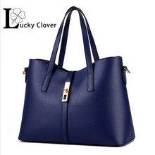 High quality 2015 brand fashion big bag Retro PU leather women handbag messenger shoulder bag vintage
