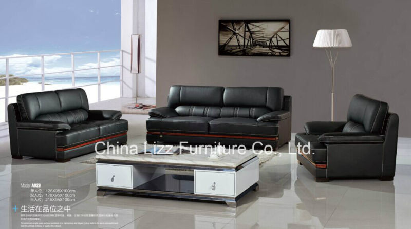 Lizz real leather office sofa set beautiful comfortable for Durable living room furniture