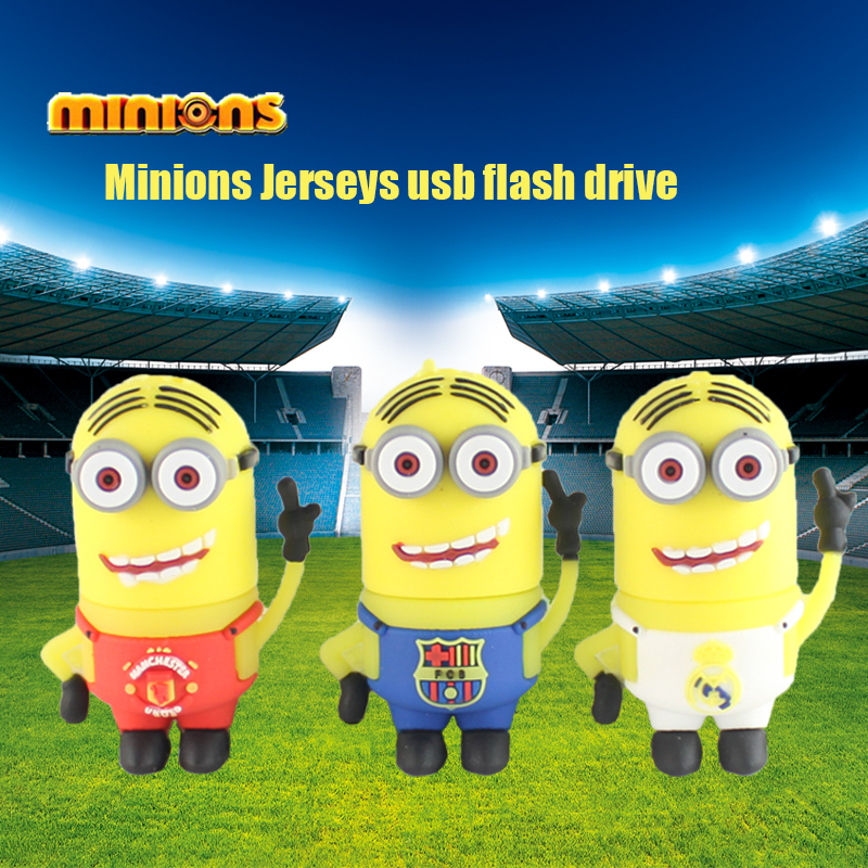 pen drive minions usb flash drive football player model usb stick 16g 8g flash stick 4g 2g thumb drive free shipping usb 2.0(China (Mainland))