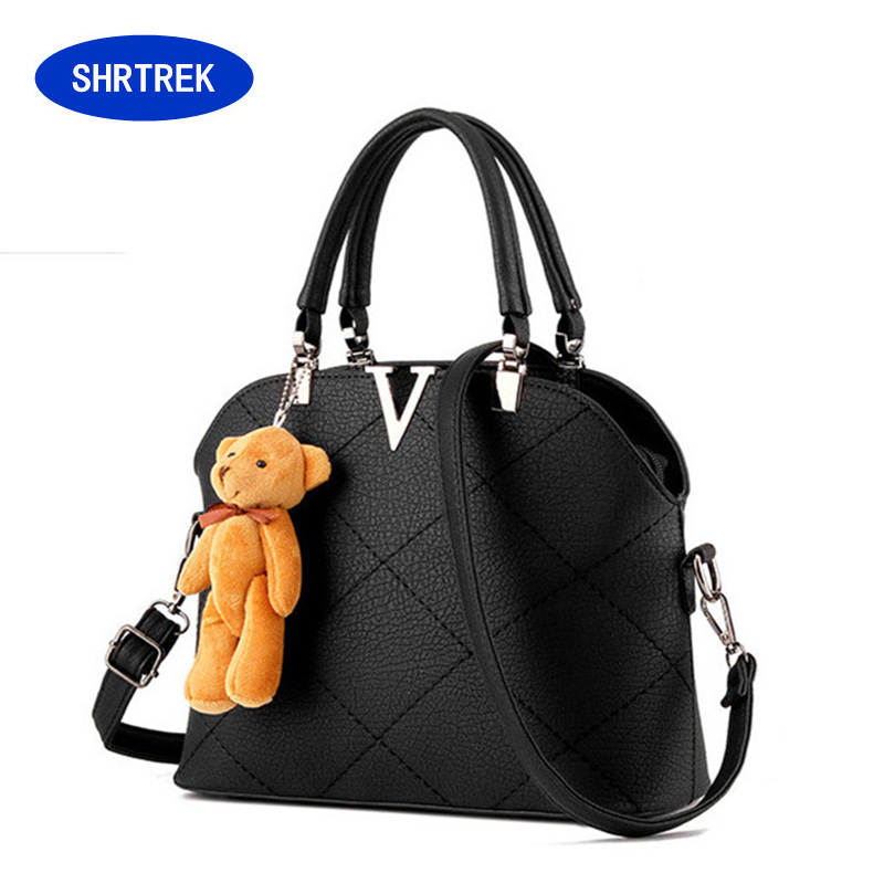 2016 brand PU leather women messenger bag women leather handbags vintage casual lady bag solid bolsa feminina