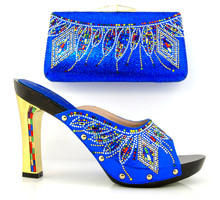 SG16-100E!Wine! Hot sale Italian matching shoe and bag sets with rhinestone for women, fashion African women shoes and bag set(China (Mainland))