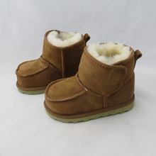 Real Goat Fur Baby Boy Winter Snow Boots 2016 Brand Kids Baby Ugly Boots Shoes Children Geanuine Leather Australia Shoes 1-4 Age(China (Mainland))