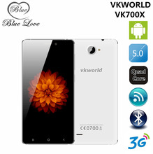 Original VKworld VK700X MTK6580A Quad Core 5 Inch 1GB RAM 8GB ROM Cell Phone 7.2mm Thin Body 1280*720 3G WCDMA Smartphones