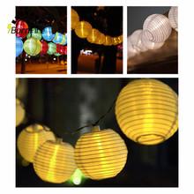 20 LED Outdoor Lighting Lantern Ball Solar String Lights Fairy Globe Christmas Decorative Solar Lamp for Party Holiday Deco(China (Mainland))