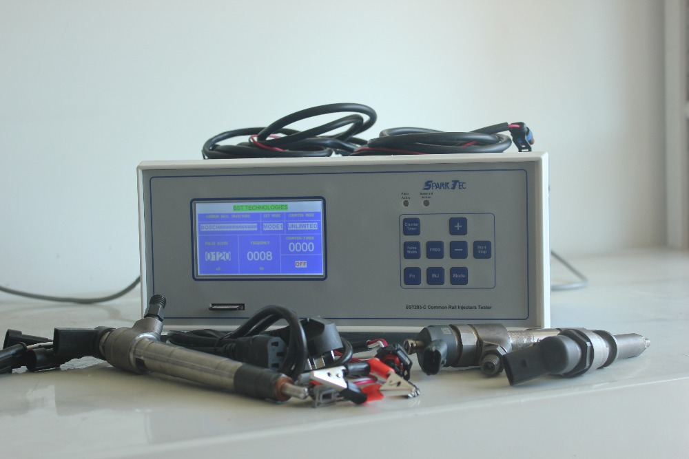 New Research BST203 C piezo and electromagnetic common rail injector tester for bosch delphi denso siemens