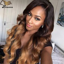 7A Cheap Full Lace Human Hair Wigs For Balck Woman Ombre Wig Virgin Brazilian Hair Wavy Glueless Lace Front Wigs With Baby Hair