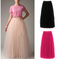 2015 Sping and Summer women's long mesh ball gown lace skirts,candy color princess skirt,vintage skirts,vestido