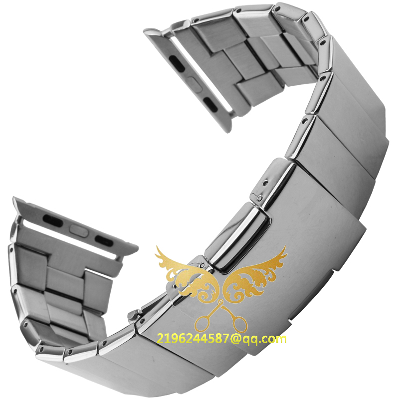 Butterfly Lock Link Bracelet4colours Stainless Steel Watch Band for A-p-p-l-eWatch iWatch Link Original Watch band free shipping<br><br>Aliexpress