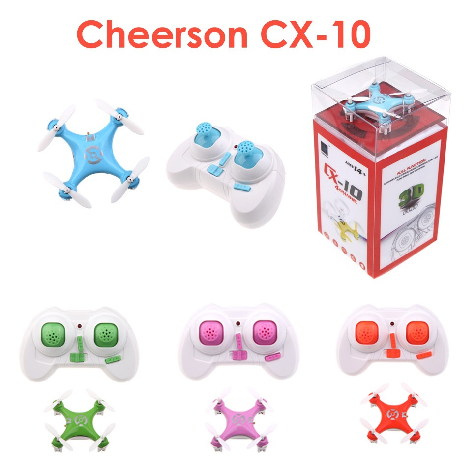 Brand New Cheerson CX-10 CX10 2.4G Control 4CH 6 Axis LED RC Mini Quadcopter RTF Drone quad copter - Lake Shopping Center store