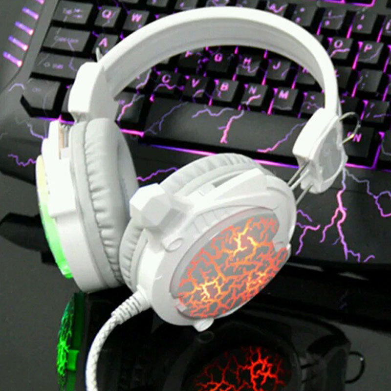 Brand G800 High Quality Computer Gaming Stereo Bass Headphone With Mic Usb Auriculares LED Colorful Light for PC Gamers(China (Mainland))