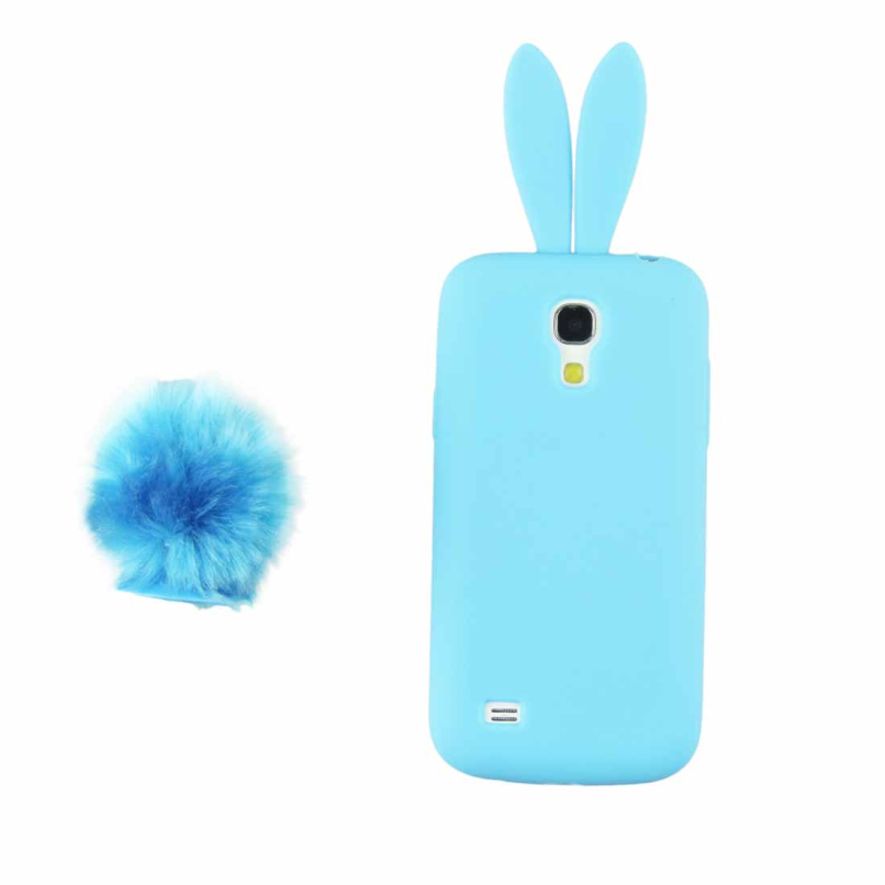 Attractive Cute Silicon Rabbit Stand Holder Soft Case Cover Sink For Samsung Galaxy S4 Mini I9190 JE24(China (Mainland))