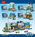 Decool 1110 1113 City Series Apartment Hotel School Warehouse Bricks Minifigures Building Block Toys Best Toys