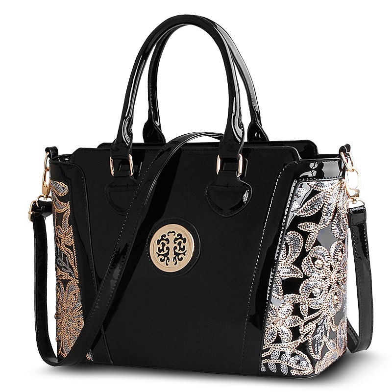 Shoulder Bags Crossbody Brand New Fashion Patent Leather Women Bag Handbag Messager Elegant Luxury Ladies Black Tote Famous(China (Mainland))