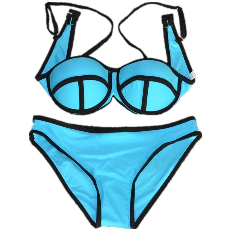 High Quality Swimwears New Summer 2015 Fashion Sexy Bikinis Women Swimsuit Bath Suit Push Up Bikini