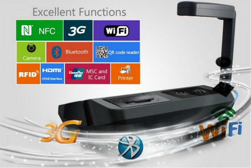 "Best selling JP762A Tablet PDA 7"" inch big screen 4G memory Android PDA with 1D barcode laser reader WLAN Fingerprint sensor(China (Mainland))"