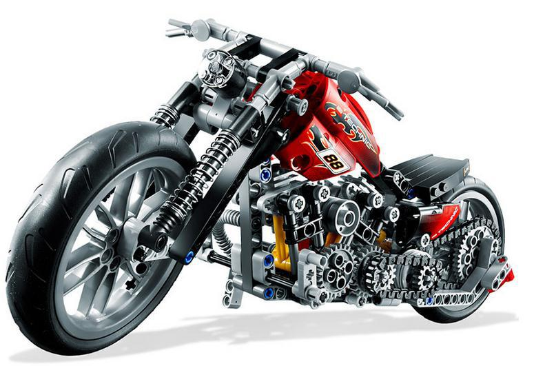 Decool 3354 Technic Motorcycle Exploiture DIY Model Toys Building ...