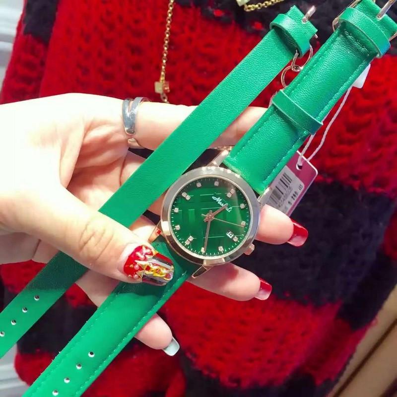 Классический Новая Мода Простой Стиль Часы Набор Люксовый бренд часы с браслет Женщины повседневная Кожа часы Reloj мухерес 2016