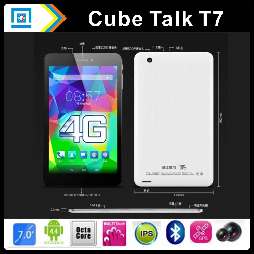 Original Cube T7 4G FDD LTE Phone Call MT8752 Octa Core 64Bit Tablet PC 1920x1200 JDI
