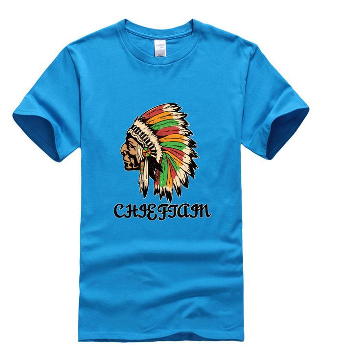 Bona New Brand Clothing 100 Cotton Indian Chief Print T