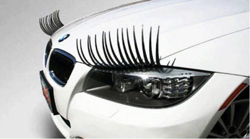 1 Pair Fashion Cute Car Styling Stickers Black Eyelashes Vehicle Headlight Decorative Sticker On Car Free Shipping(China (Mainland))