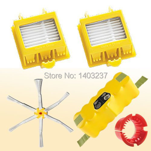 Vacuum Cleaner Accessory For iRobot Roomba 770 Kit Includes Battery Side Brush 2 Filters A Cleaning Tool(China (Mainland))