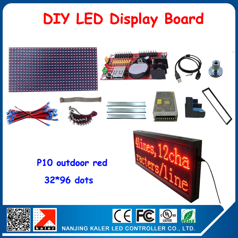 6pcs P10 Modules LED Board,32*96 pixels Outdoor Red LED Display Screen Outdoor LED Panel Waterproof LED Moving Sign(China (Mainland))