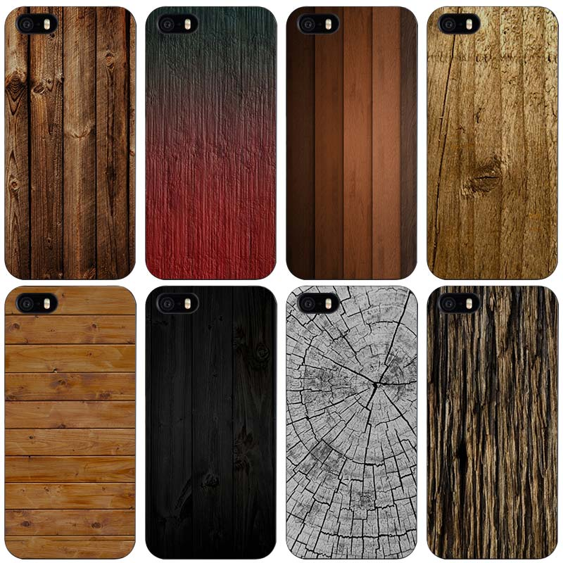 texture wood Black Plastic Case Cover Shell for iPhone Apple 4 4s 5 5s SE 5c 6 6s 7 Plus(China (Mainland))